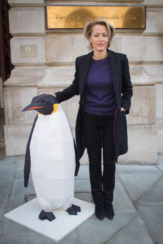 GILLIAN ANDERSON at Protect the Antartic Petition in London 10/09/2018