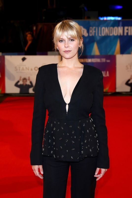 HANNAH ARTERTON at Stan & Ollie' Premiere and Closing Night of BFI London Film Festival 10/21/2018