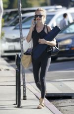 HEATHER GRAHAM Heading to Yoga Class in Los Angeles 10/17/2018