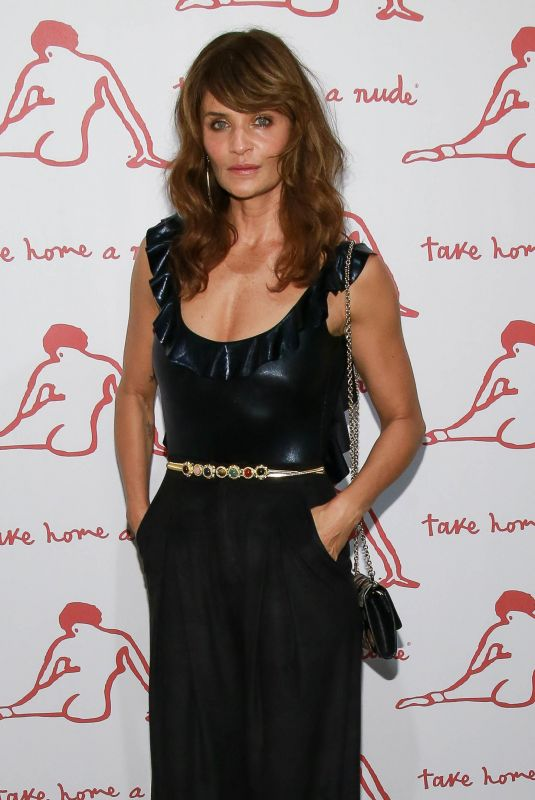 HELENA CHRISTENSEN at Take Home A Nude Art Party and Auction in New York 10/09/2018