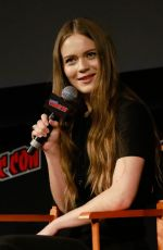 HERA HILAMRSDOTTIR at Mortal Engines Panel at 2018 New York Comic-con 10/05/2018