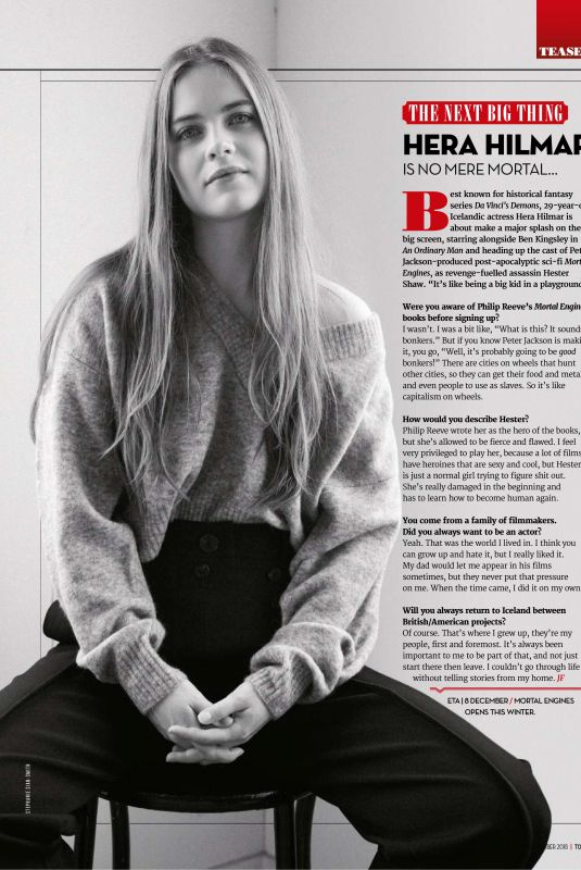 HERA HILMAR in Total Film Magazine, November 2018