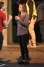 HILARY SWANK on the Set of Fatale in Los Angeles 10/18/2018