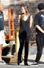 HILARY SWANK on the Set of Movie Project in Los Angeles 10/15/2018
