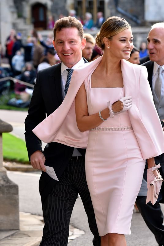 HOLLY CANDY at Wedding of Princess Eugenie of York and Jack Brooksbank at St. George's Chapel 10/12/2018