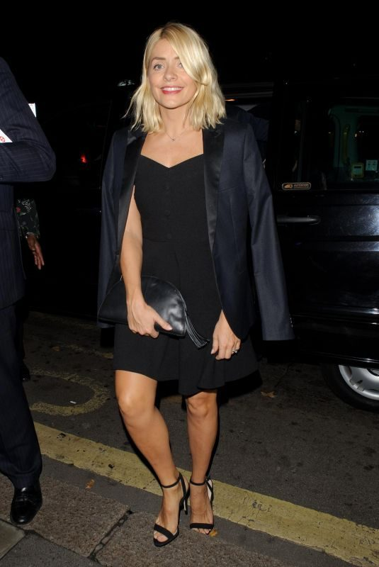 HOLLY WILLOGHBY Night Out in London 10/05/2018