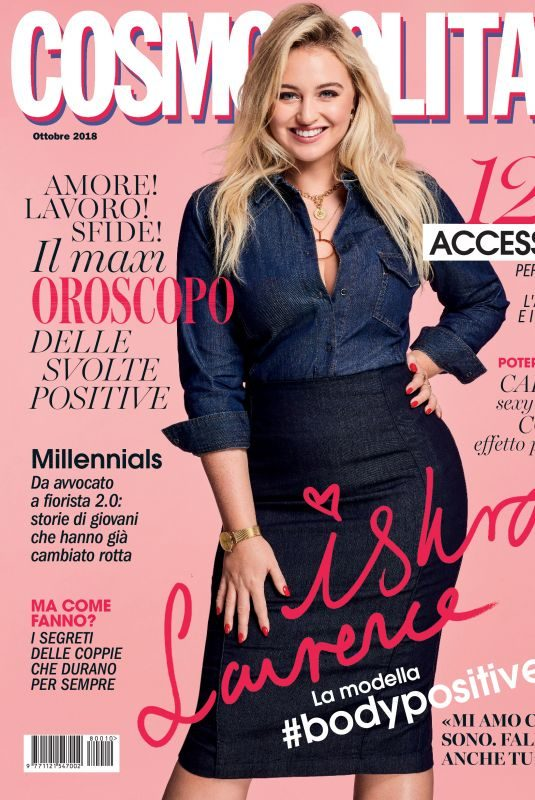 ISKRA LAWRENCE in Cosmopolitan Magazine, Italy October 2018