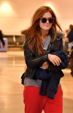 ISLA FISHER at LAX Airport in Los Angeles 09/28/2018