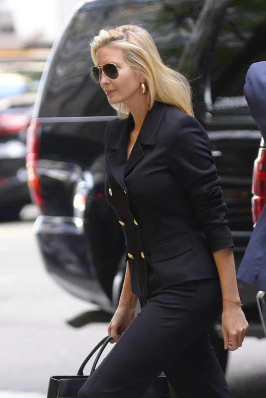 IVANKA TRUMP Arrives at a Meeting in New York 10/17/2018