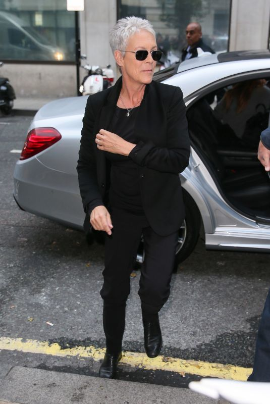 JAMIE LEE CURTIS Arrives at BBC Radio in London 10/05/2018
