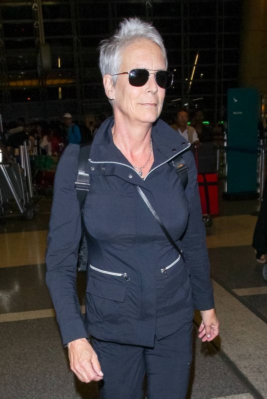JAMIE LEE CURTIS at LAX Airport in Los Angeles 10/21/2018