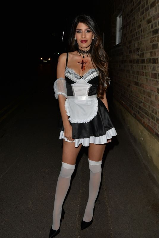 JASMIN WALIA at a Halloween Party in London 10/27/2018