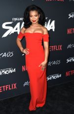 JAZ SINCLAIR at Chilling Adventures of Sabrina Premiere in Hollywood 10/19/2018
