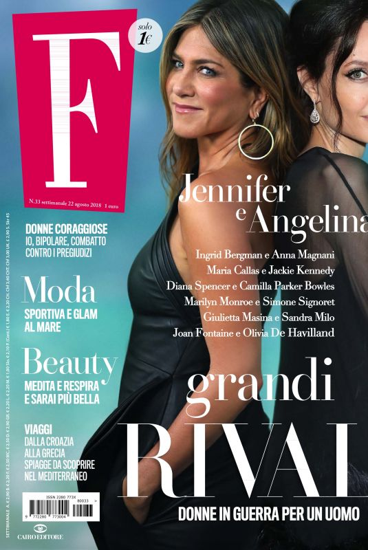 JENNIFER ANISTON and ANGELINA JOLIE in F Magazine, N33 August 2018