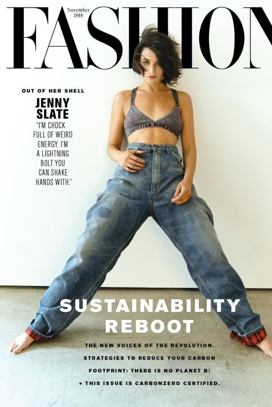 JENNY SLATE in Fashion Magazine, November 2018 Issue
