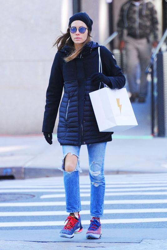 JESSICA BIEL Out Shopping in New York 10/30/2018
