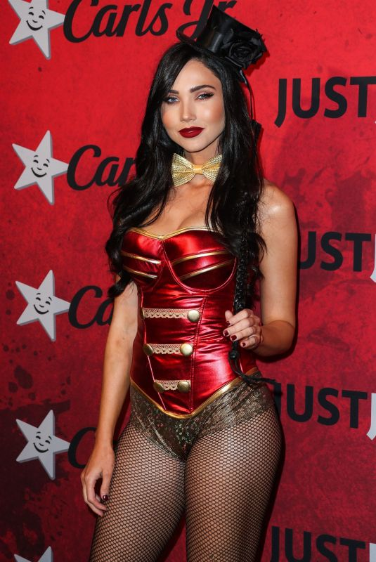 JESSICA GREEN at Just Jared Halloween Party in West Hollywood 10/27/2018