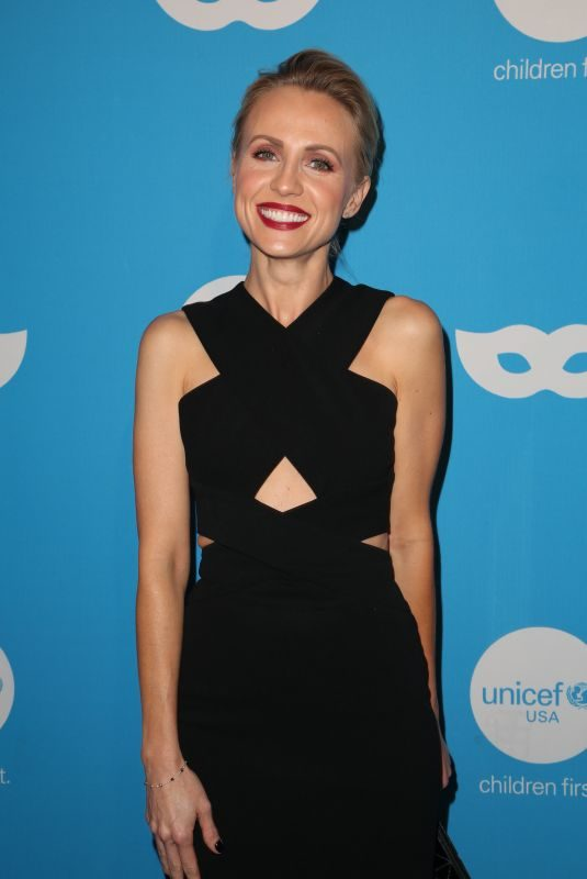 JESSICA HOLMES at Unicef Masquerade Ball in Los Angeles 10/25/2018