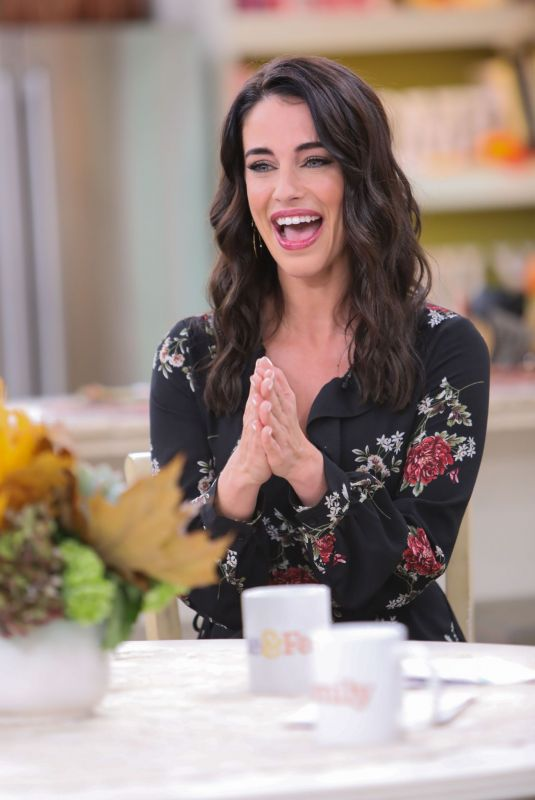 JESSICA LOWNDES on the Set of Home & Family at Universal Studios 10/24/2018