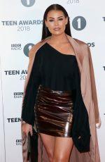 JESSICA WRIGHT at BBC Radio 1 Teen Awards in London 10/21/2018