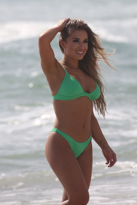 JESSIE JAMES in Bikini on the Set of a Commercial on Miami Beach 10/22/2018