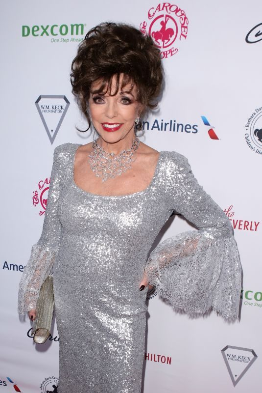 JOAN COLLINS at 2018 Carousel of Hope Ball in Los Angeles 10/06/2018
