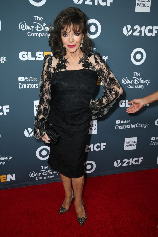 JOAN COLLINS at Glsen Respect Awards 2018 in Beverly Hills 01/19/2018