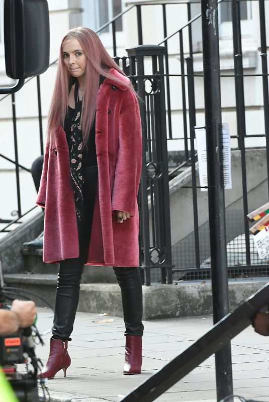 JODIE COMER on the Set of Killing Eve in London 10/10/2018