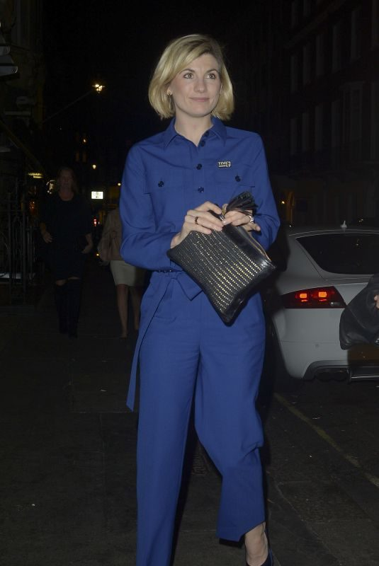 JODIE WHITTAKER at Bagatelle Mayfair in London 10/13/2018