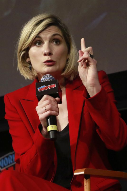JODIE WHITTAKER at Doctor Who Panel at New York Comic-con 10/07/2018