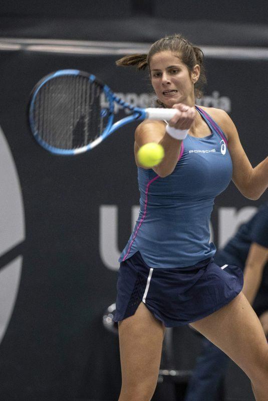 JULIA GOERGES at WTA Upper Austria Ladies Tennins Tournament in Linz 10/10/2018