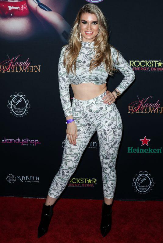 JUNE WALTON at Karma International Kandy Halloween Party in Los Angeles 10/21/2018
