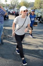 KALEY CUOCO Arrives at Dodger Stadium in Los Angeles 10/26/2018