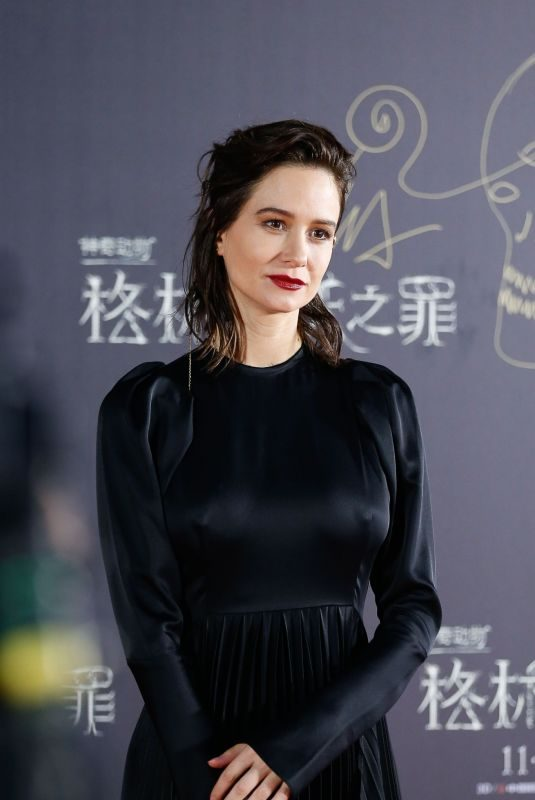 KATHERINE WATERSTON at Fantastic Beasts: The Crimes of Grindelwald Premiere in Beijing 10/28/2018
