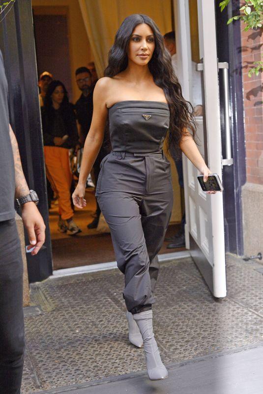 KIM KARDASHIAN Leaves Her Hotel in New York 09/30/2018