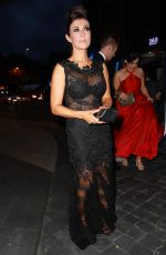 KYM MARSH Arrives at Hilton Hotel in Manchester 10/13/2018