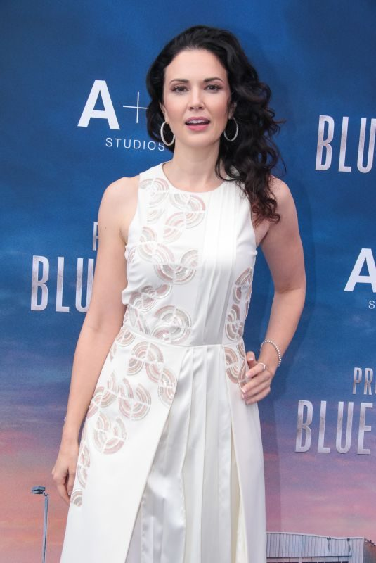 LAURA MENNELL at Project Blue Book Photocall at Mipcom in Cannes 10/17/2018