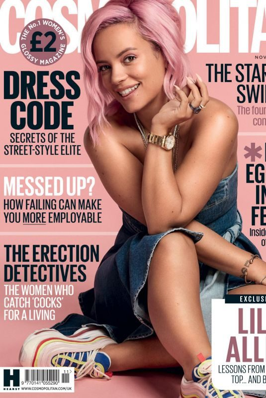 LILY ALLEN in Cosmopolitan Magazine, UK November 2018