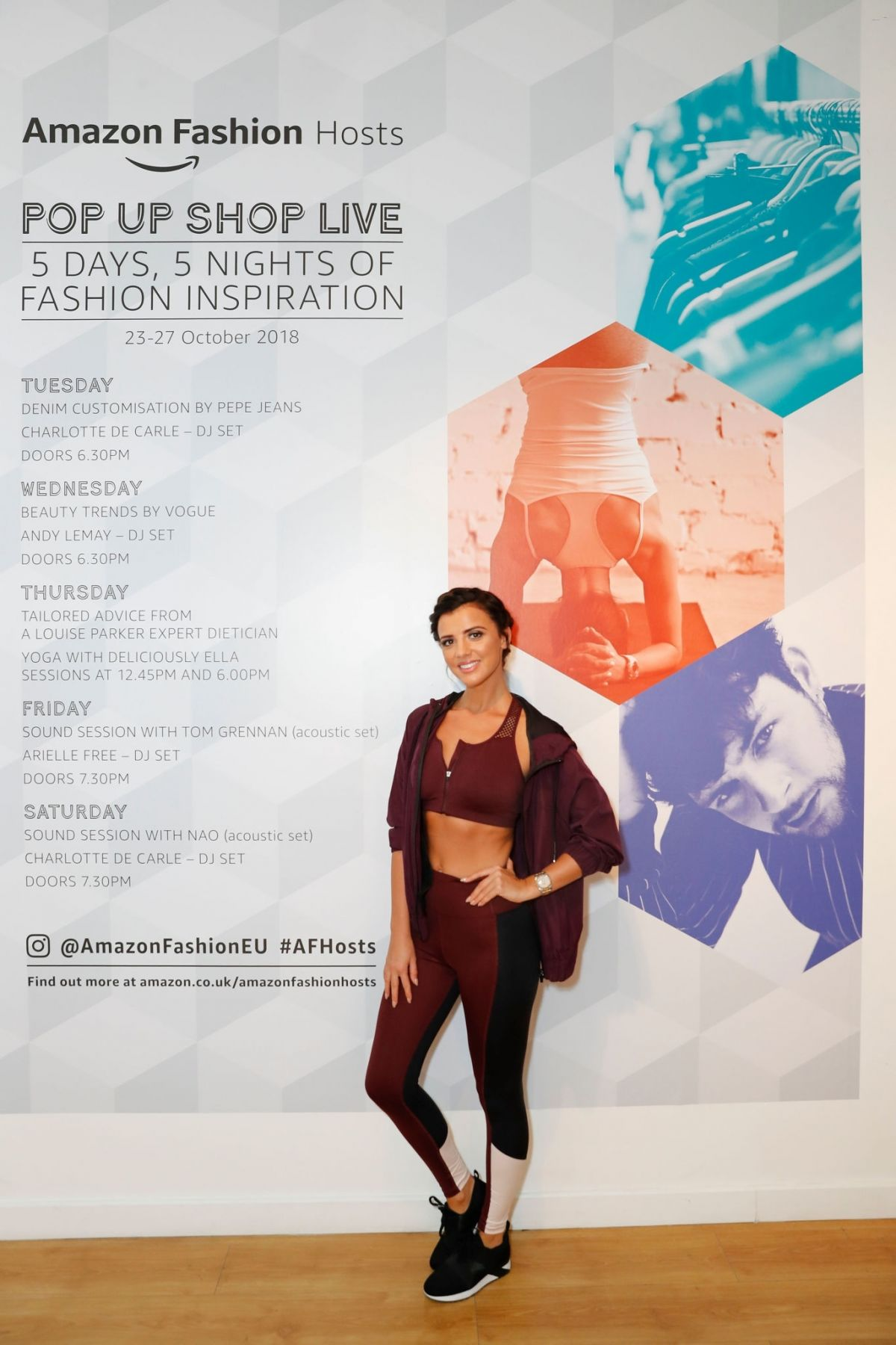38135c226 LUCY MECKLENBURGH at Amazon Fashion Pop up Shop Live Yoga in London 10 25