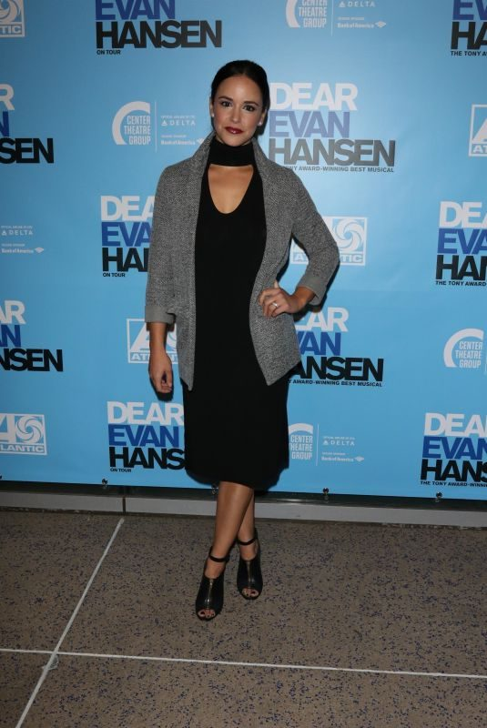 MELISSA FUMERO at Dear Evan Hansen Opening in Los Angeles 10/20/2018