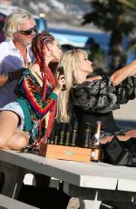 NIKKI LUND and ASHLEY BRINGHTON on the Set of a Photoshoot in Malibu 10/16/2018