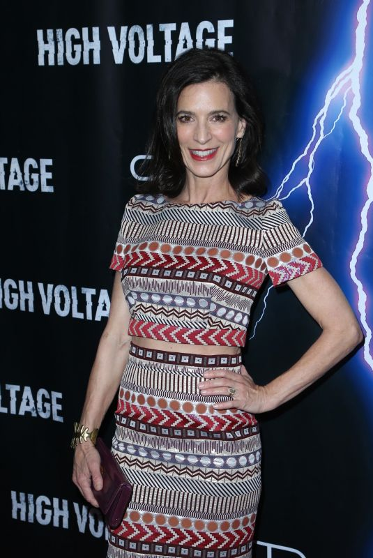 PERREY REEVES at High Voltage Premiere in Los Angeles 10/16/2018