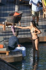 Pregnant APRIL LOVE GEARY in Bikini at a Photoshoot in St. Barts 10/26/2018