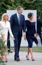 QUEEN LETIZIA OF SPAIN Arrives at Grand Palais in Paris 10/05/2018