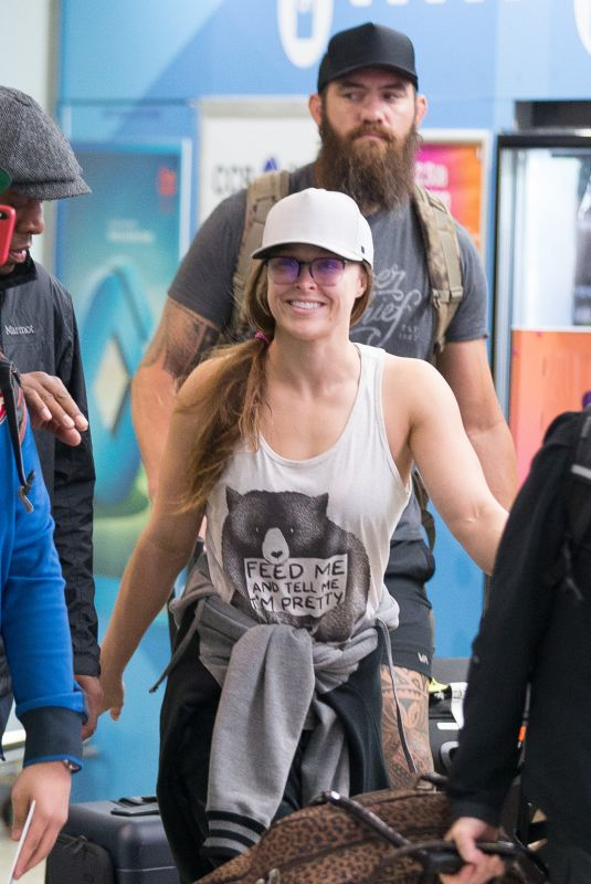 RONDA ROUSEY at Airport in Melbourne 10/04/2018