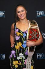 RONDA ROUSEY at WWE's First Ever All-women's Event Evolution in Uniondale 10/28/2018