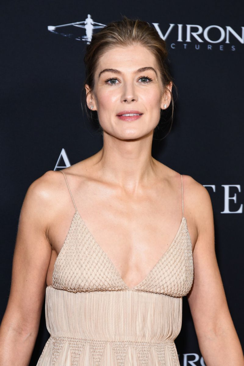 ROSAMUND PIKE at A Private War Premiere in Beverly Hills ...