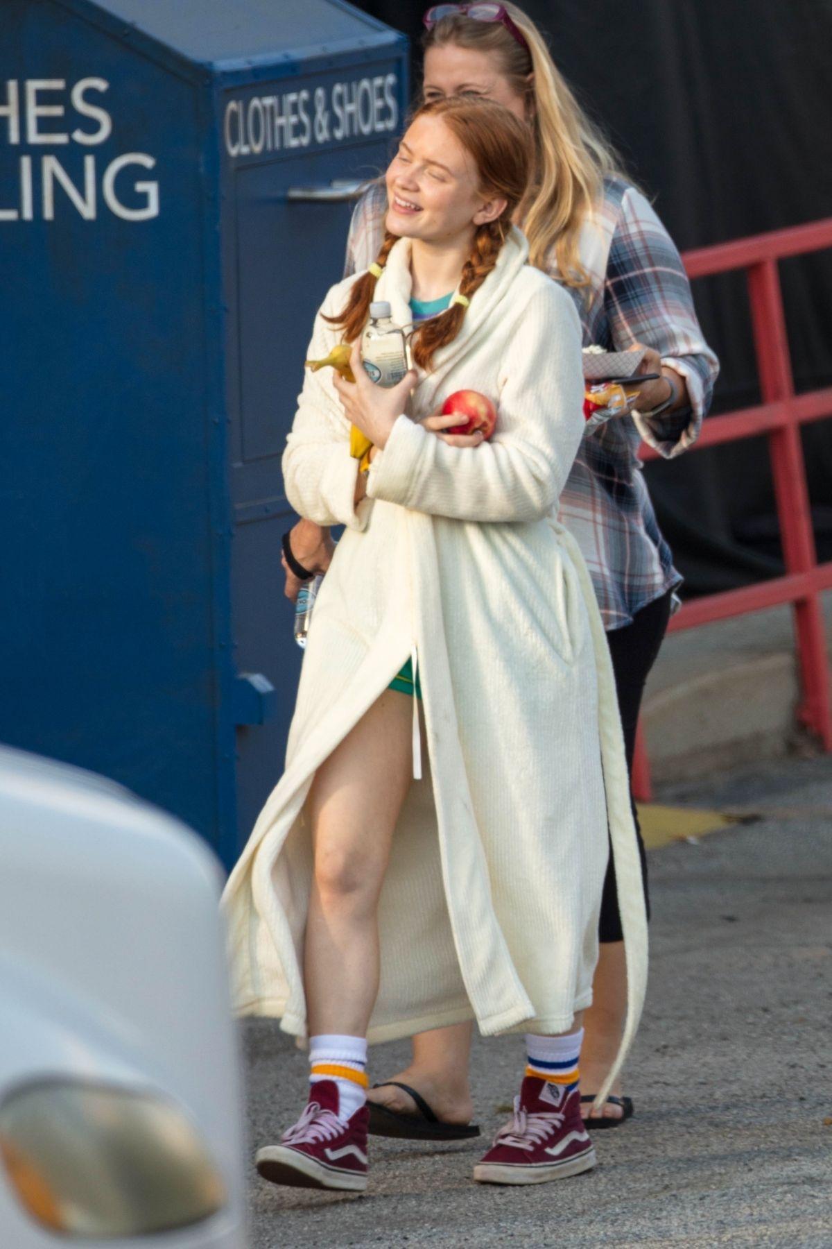 Sadie Sink On The Set Of Stranger Things Season 3 In Palmetto 10 04 2018 Hawtcelebs