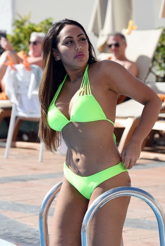 SOPHIE KASAEI in Bikini at a Pool in Tenerife 10/18/2018