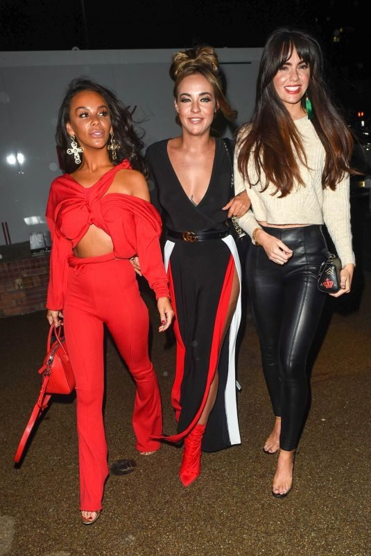 STEPHANIE DAVIS, JENNIFER METCALFE and CHELSEE HEALEY at Menagerie Restaurant & Bar in Manchester 10/05/2018